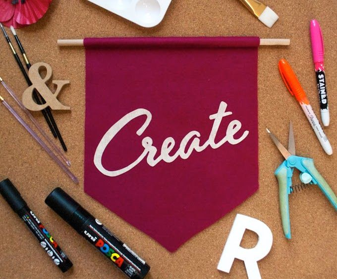 Make a banner - for any occasion - using Fabric Mod Podge!