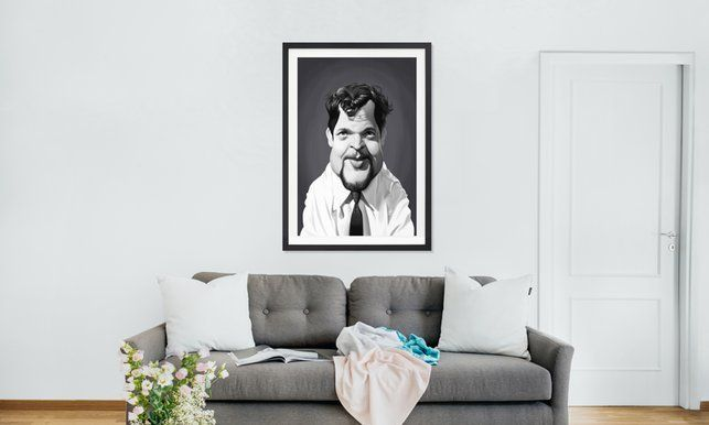 Orson Welles - Rob Snow | Creative - Poster in Wooden Frame art | decor | wall art | inspiration | caricature | home decor | idea | humor | gifts