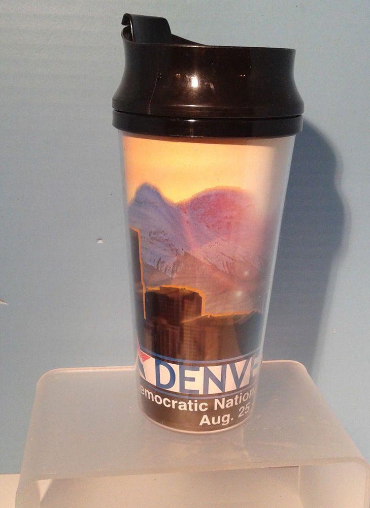 BARACK OBAMA 2008 DNC Democratic National Convention  Denver, CO Travel Mug Cup