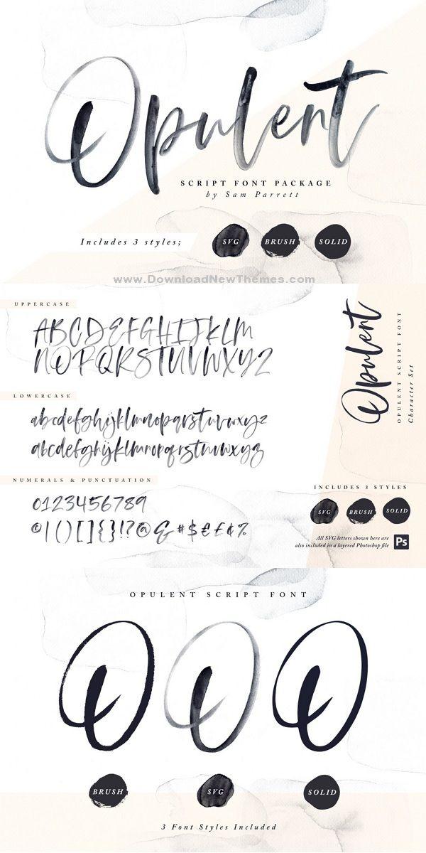 Opulent Font Svg Hand Lettering Fonts Lettering Hand Lettering
