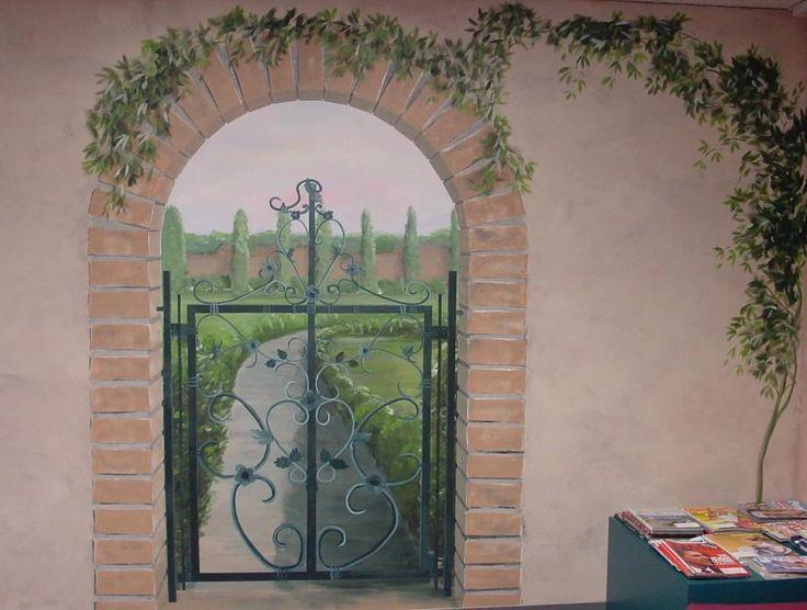garden theme murals portland oregon.JPG provided by Melissa Barrett Paint Design Wall Murals Portland 97223