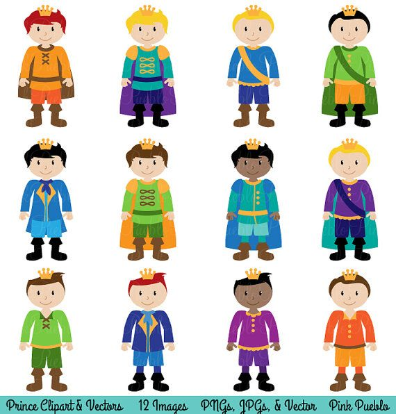 Prince Clipart Clip Art, Fairytale Clip Art Clipart Vectors - Commercial and Personal Use