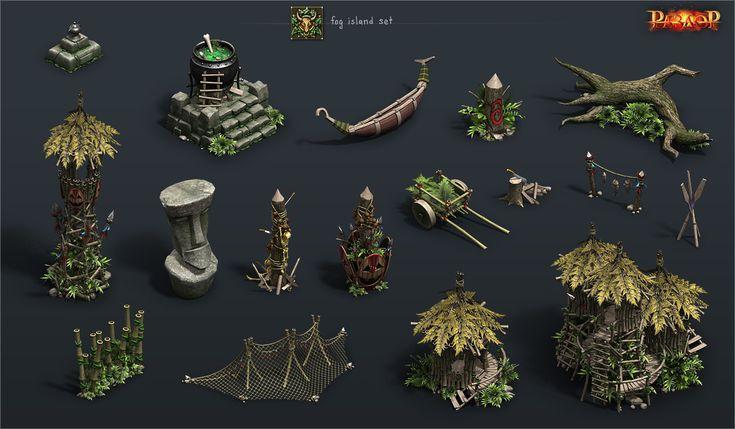 ArtStation - fog island set, Vladimir Voronov