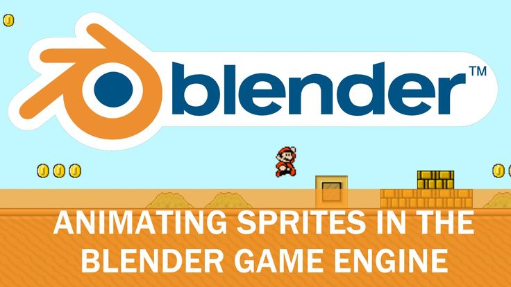 Blender Game Engine - Animated Sprites with Logic Bricks (Mario Edition)