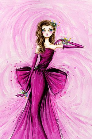 """Starlet in Magenta"" By Bella Pilar Canvas Print #BPR205"