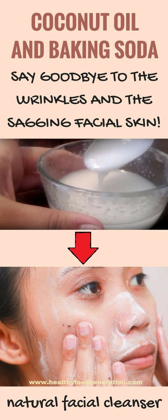 Coconut oil and baking soda facial cleanser