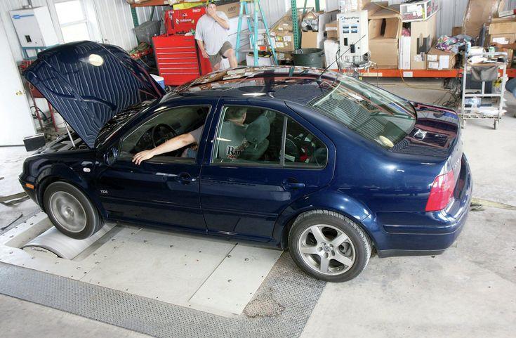 2002 Volkswagen Jetta TDI Rear View On The Dyno
