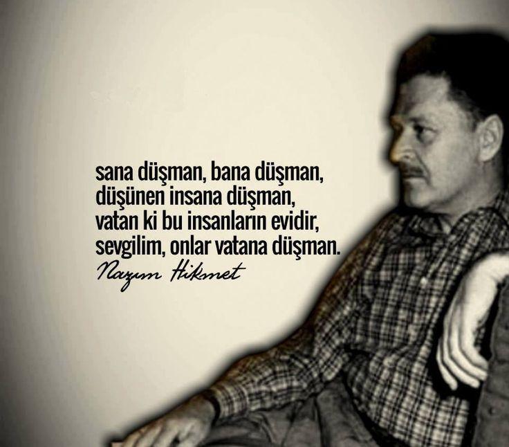 Nazım Hikmet (15 Ocak 1902 - 3 Haziran 1963) 115 yıl önce bugün doğmuştu. Başta şiirleri olmak üzere, insanlığa miras bıraktığı asarın...