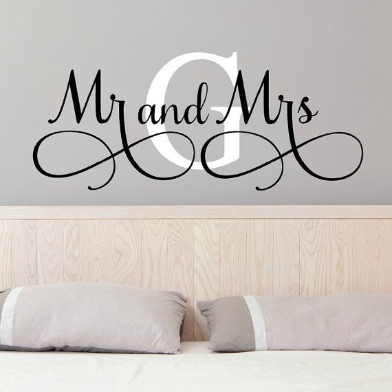 Mr And Mrs Wall Decals Mr and Mrs Stickers by VinylWritten