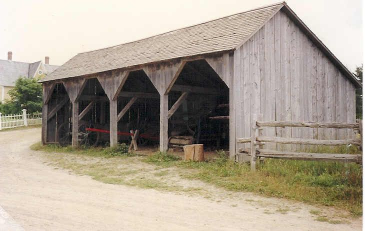 Open shed garage pinterest barn farming and storage for Traditional barn kits