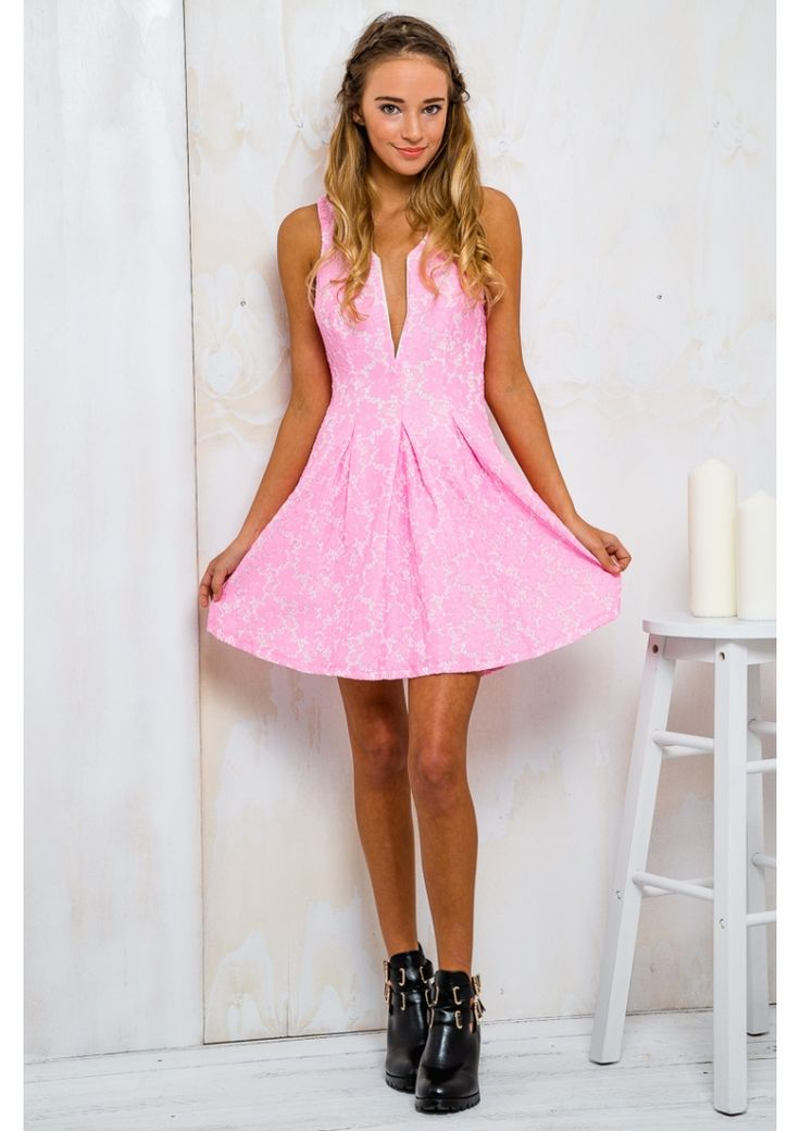 Sprinkle Donut Womens Lace Dress - Lolly Pink $59.95 - Free Express Shipping