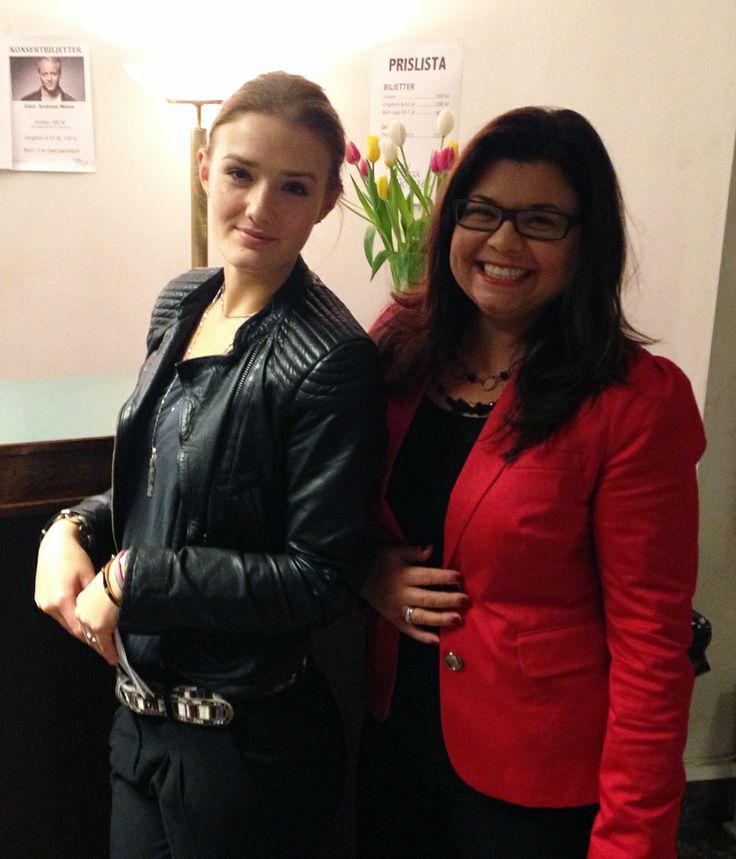 Me and Emma Gullström on event for Gabriel Forss, Du kan Sjunga Gospel