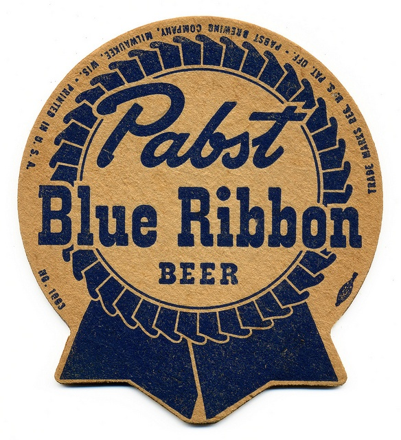 Pabst Blue Ribbon,  Pabst Brewing Company.  Milwaukee, Wisconsin