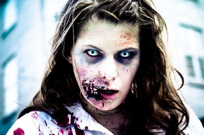 670px Grinning Zombie Gerçekçi Zombi Makyajı Nasıl Yapılır ?
