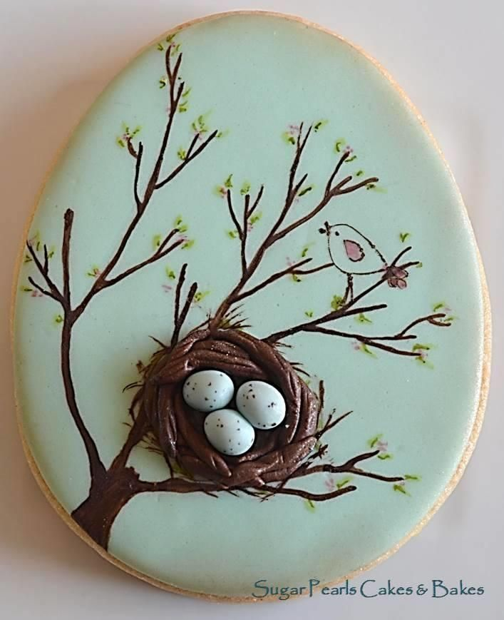 Bird Nest Cookie although this is a cookie it gives me an idea for a craft