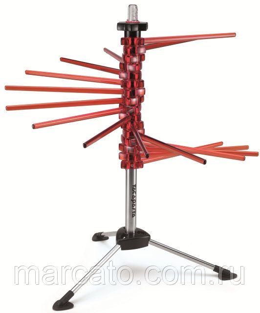 Оптом и в розницу Marcato Design Tacapasta Rosso сушильная стойка для длинных макаронных изделий невероятно удобное устройство, которое не займет много места и при этом идеально просушит каждую макаронину. Приспособление имеет форму вертикальной спицы, на которой по спирали раздвигаются пальцы для развешивания мучных изделий.  Спагетти и лапша абсолютно не прилипают к поверхности пластиковых пальцев. Купить в Украине: https://marcato.ua/p1628683-marcato-tacapasta-rosso.html