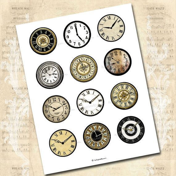 24 best PRINTABLE CLOCK FACES images on Pinterest Clock faces - clock templates