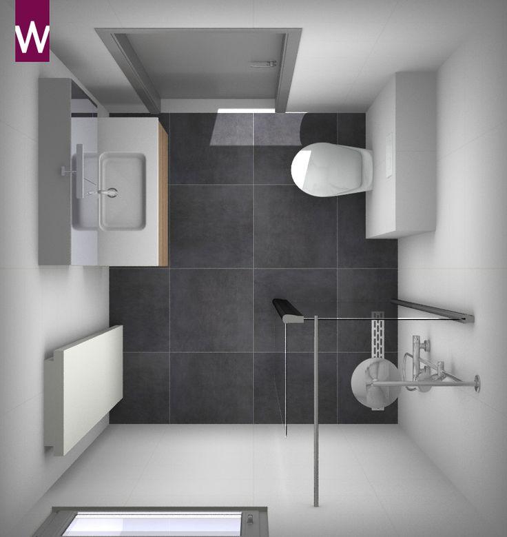 Meer dan 1000 idee n over kleine badkamer ontwerpen op pinterest kleine badkamers kleine - Badkamer in m ...