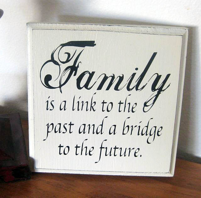 Family Wood Sign, Quote. $14.50, via Etsy.