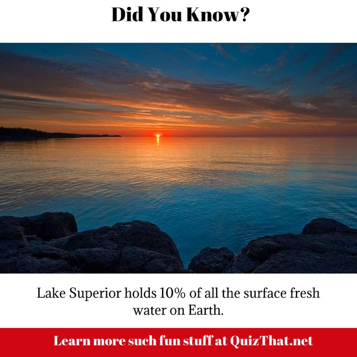 Lake Superior holds 10% of the surface fresh water