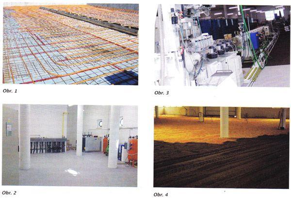 Ukládání energie pod podlahou objektu:  Systém ukládání energie pod podlahou objektu patří svou povahou mezi temperované konstrukce. Na obrázku 1 je patrná taková aplikace v založení novostavby kostela v Québecu. Zde je zřejmé oddělení spodních vrstev izolací z extrudovaného polystyrenu.