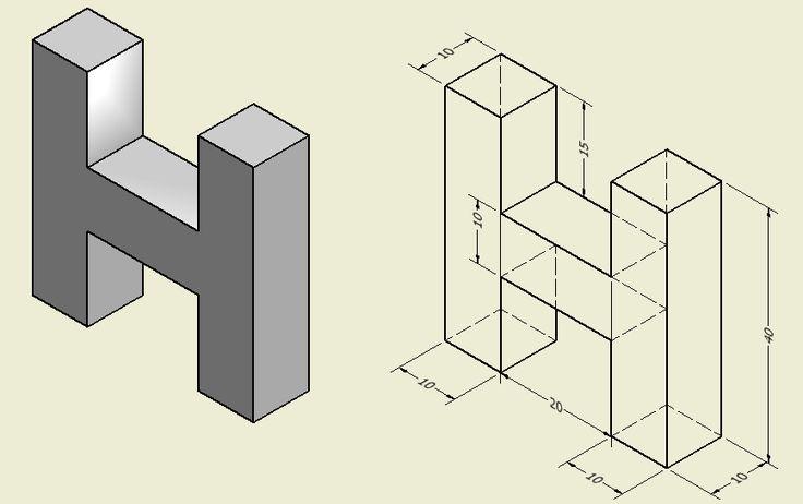 Perspectiva Isometrica Letra Buscar Con Google Letras