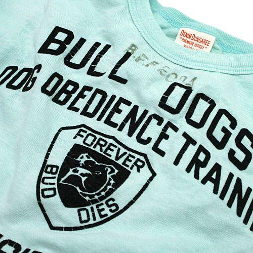 DENIM DUNGAREE(デニム&ダンガリー):ビンテージテンジク BULL DOGS Tシャツ 14BLブルー の通販【ブランド子供服のミリバール】