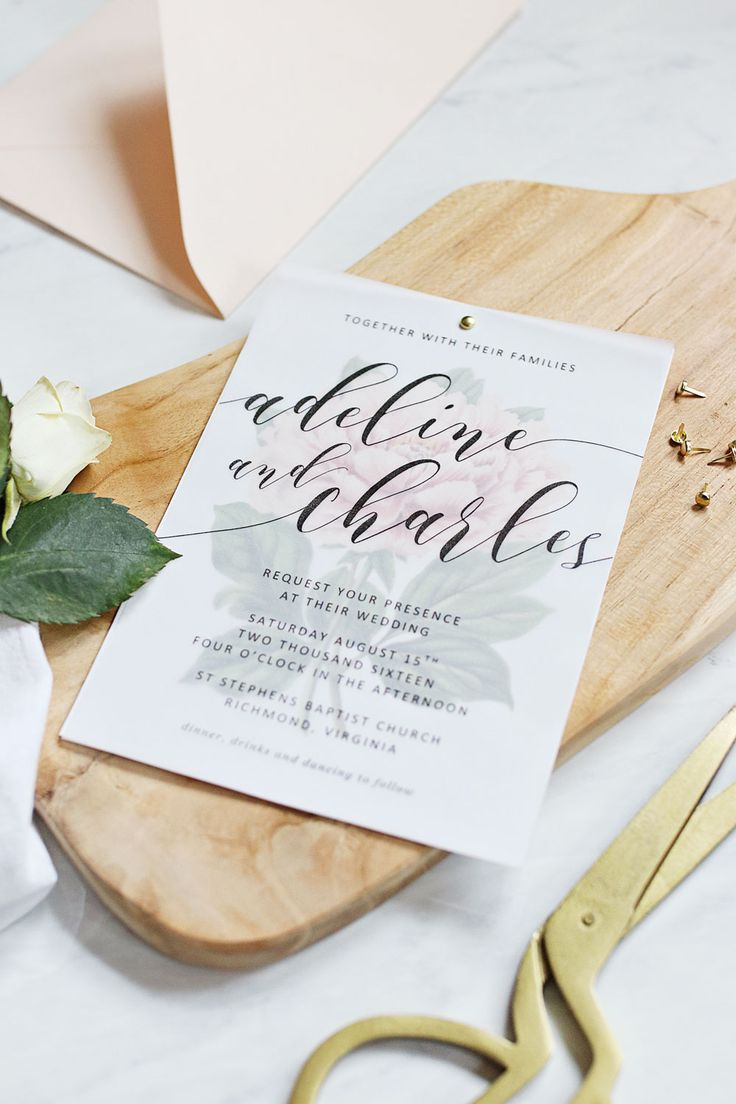 Make your own beautiful floral wedding invitations