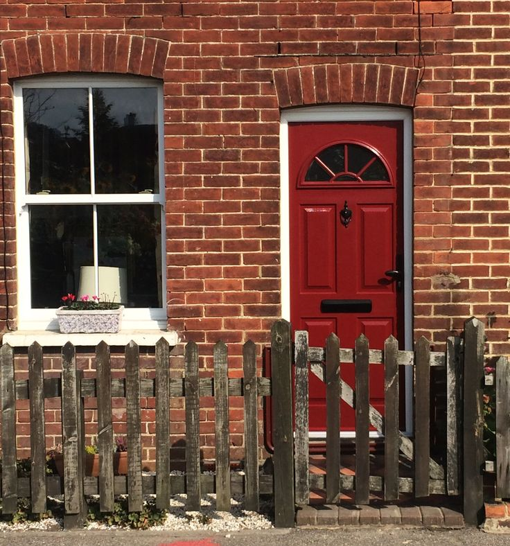 The Conway In Red And Black Door Furniture. We Installed The Sliding Sash  Window Next