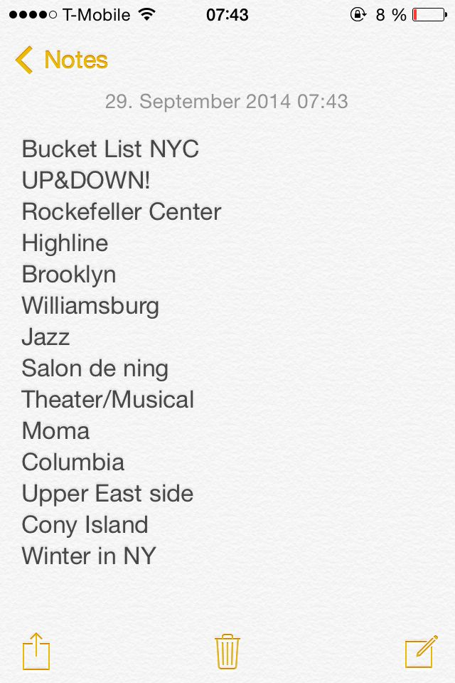 Few things still left on my NYC bucket list. Reasons to come back :)!