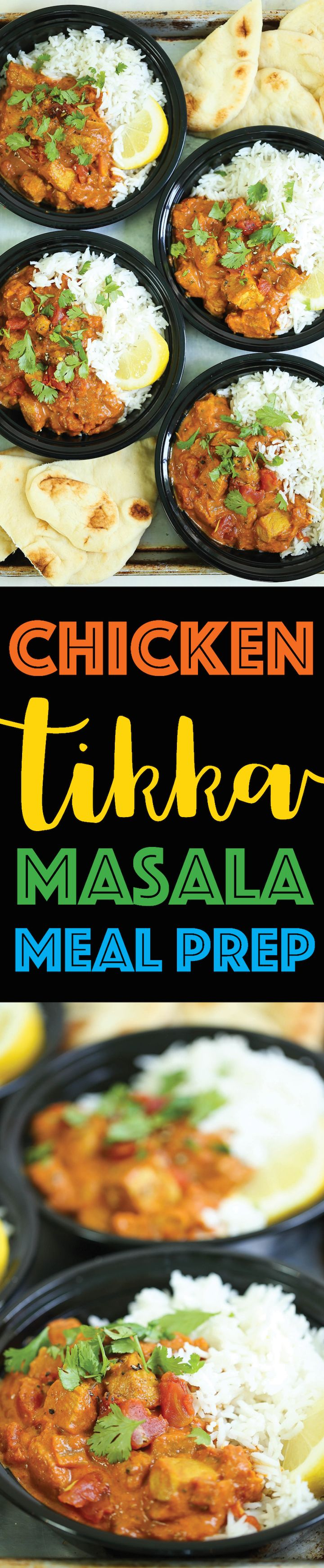 Chicken Tikka Masala Meal Prep - Everyone's FAVORITE chicken tikka masala bowls made from scratch in just 30 min! And you can prep for the entire week!!!