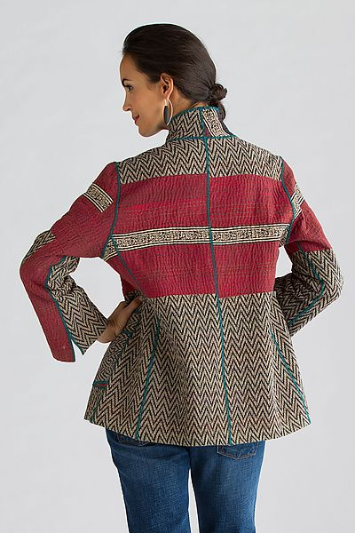 Soho Bamboo Short Jacket by Mieko Mintz: Cotton Jacket available at www.artfulhome.com
