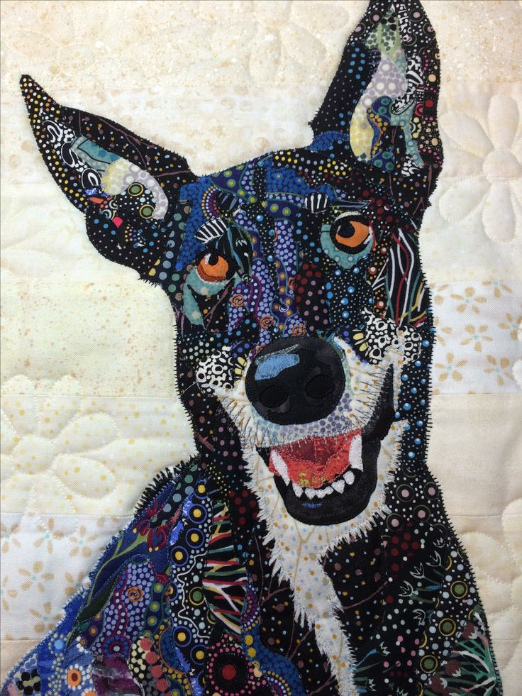 Fabric collage by Rosemary Burris. https://www.pinterest.com/burrisro/collage/