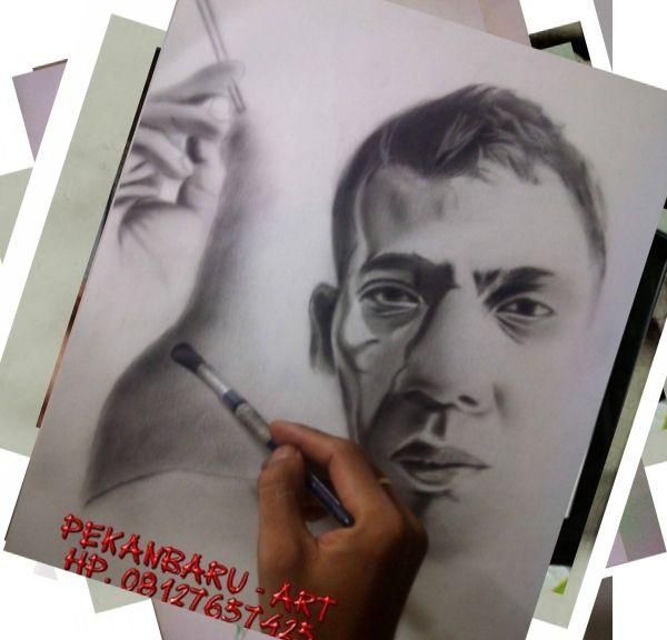 SKETSA WAJAH - PEKANBARU ART HP. 08127657425