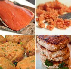 Etapas de preparo do salmão de hambúrguer (Foto: Montagem/Mundo-Nipo)