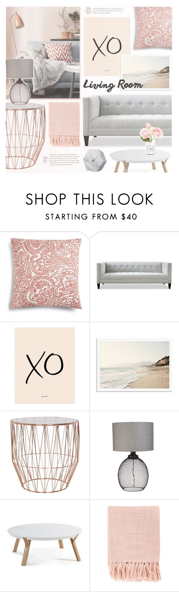 """""""Pink And Grey"""" by makeupgoddess ❤ liked on Polyvore featuring interior, interiors, interior design, home, home decor, interior decorating, Charter Club, xO Design, Surya and Chanel"""