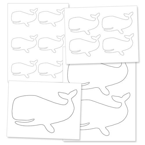 Printable Whale Template - A Smiling Whale
