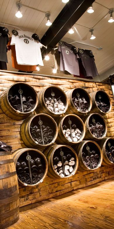 Jack Daniel's Lynchburg Hardware & General Store | Barrel #merchandising display