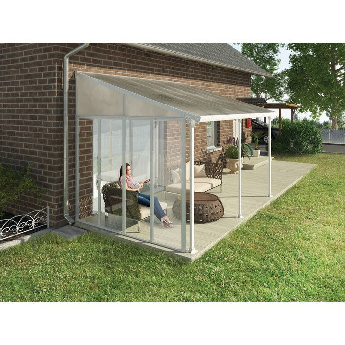 Palram Feria 10ft H X 9ft D Patio Cover Awning Sidewall Kit