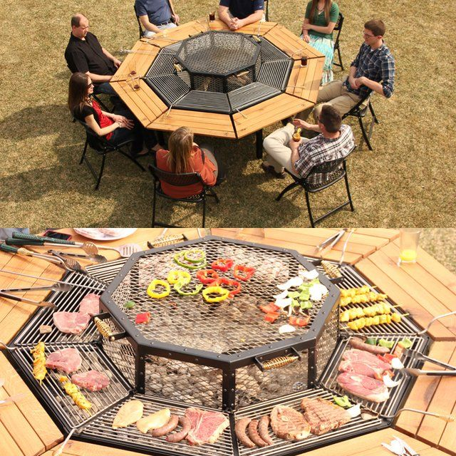 Grill and eat at the same table! The JAG Table Grill lets guests grill their own food. Genius!