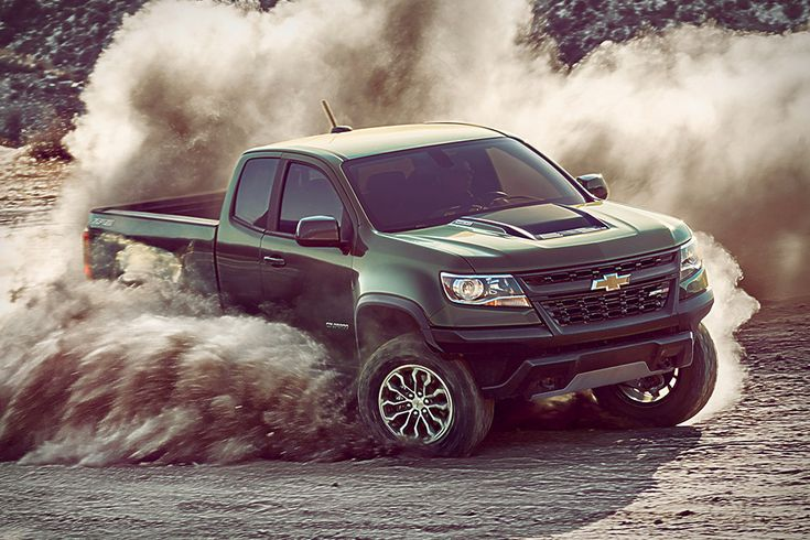 Built for off-road performance, the Chevrolet Colorado ZR2 offers big capability in a mid-sized package. The heavily modified truck sits on a track that's been widened by three and a half inches, with a lifted suspension and new cast-iron control...
