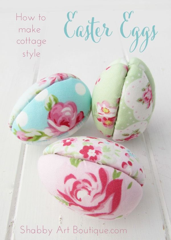 Cottage style Easter eggs - Shabby Art Boutique  #bHomeApp