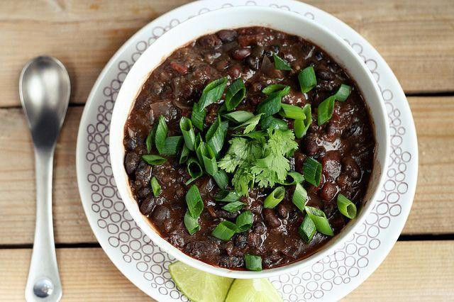 Chipotle Black Bean and Quinoa Crock-Pot Stew - Vegan + Gluten-free