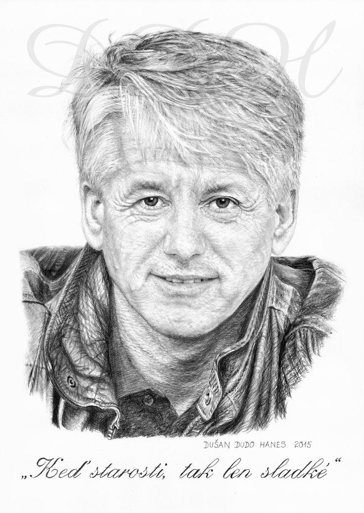 Emil Horváth ml., portrét Dušan Dudo Hanes - dar k významnému životnému jubileu