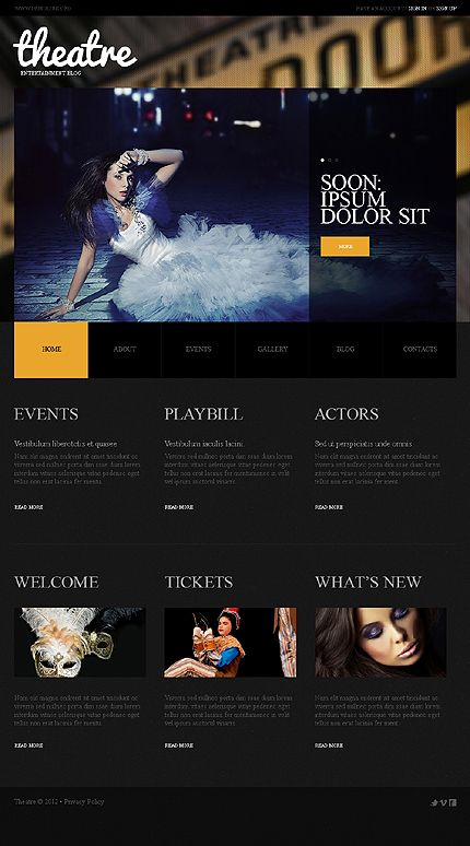 Theatre Blog WordPress Themes by Cowboy