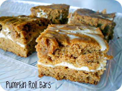 Pumpkin Roll Bars on SixSistersStuff.com - these are my favorite pumpkin recipe of the year!
