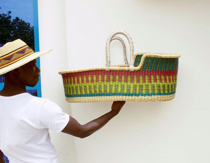 How To Weave A Moses Basket : The cutest woven baby baskets by design dua