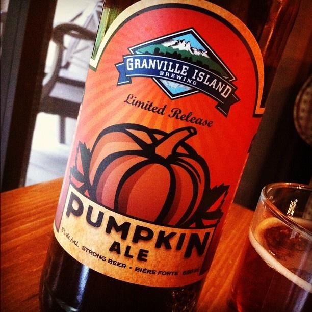 "@travelingcanucks's photo: ""Tis the season! Tasty bottle of craft #beer - Pumpkin Ale by Granville Island""  Read more - http://travelingcanucks.com/travel/series/beer-around-the-world/"