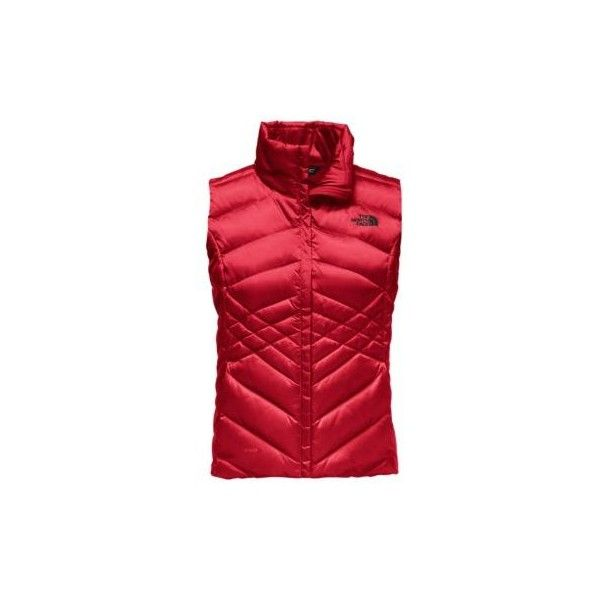 The North Face Women's Aconcagua Down Vest ($99) ❤ liked on Polyvore featuring outerwear, vests, insulated vest, layered vest, the north face vest, down vest and polka dot vest