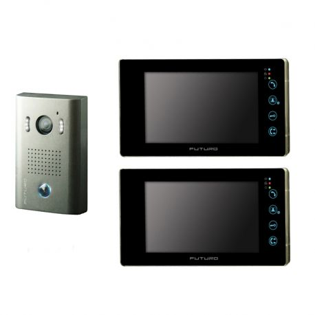 The latest kit by Futuro, this up market Intercom Kit is designed to fit in with the modern designed homes with the reliability to last for year after year. This kit gives you the ability to see who's at the door before you open it. It also includes 2 way audio so you talk to whoever is at the door without having to take the risk of opening the door to a stranger.